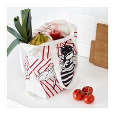 IKEA - ANVÄNDBAR, Tas, Door deze draagtas telkens weer te gebruiken in plaats van wegwerptasjes lever je een positieve bijdrage aan het milieu.De tas is machinewasbaar en gaat langer mee dan een kunststof tas.