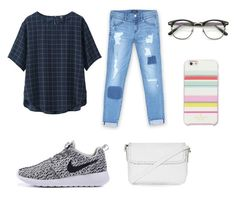 """simple ⚡️"" by auliaarist on Polyvore featuring Bebe, Topshop, Uniqlo and Kate Spade"