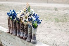 Colorado, Pueblo, Wedding, Rustic, Country, DIY, Midnight Blue, Navy Blue, Taupe, Beige, Tina Joiner Photography, artificial flowers, bouque...