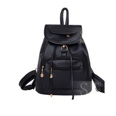 Promotion price Bolsas Mochila Feminina 2017 New Black Pu Leather Women's Backpack Fashion Brand backpack Female School Backpacks W0157 just only $29.95 with free shipping worldwide  #womanbackpacks Plese click on picture to see our special price for you