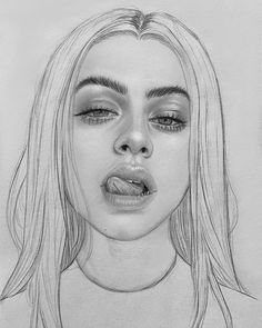 The Effective Pictures We Offer You About drawing sketches woman A quality picture can tell you many Pencil Art Drawings, Realistic Drawings, Art Drawings Sketches, Cute Drawings, Cool Drawings Tumblr, Portrait Sketches, Portrait Art, Woman Portrait, Art Du Croquis