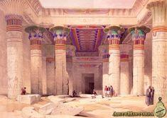 Interior del templo de Isis en Filae