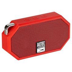 Altec Lansing Mini H20 - Red = cool, little, waterproof, bluetooth speaker