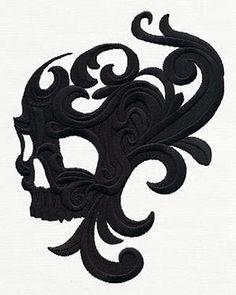 Baroque Swirl Skull_image