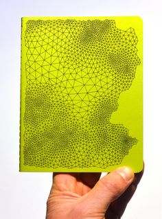 Hand drawn geometric pattern on a lime green by AbsentMind on Etsy