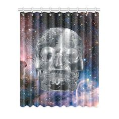 Crystal Skull Window Curtain. More sizes available. FREE Shipping. #erikakaisersot #artsadd #windowcurtains