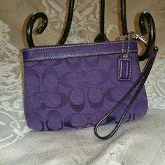 Coach wristlet & clutch purple color Small size on the go wristlet or clutch. Purle color Coach Bags Clutches & Wristlets