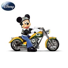 Mickey Mouse Green Bay Packers Headed For Victory Figurine #Packers #NFL