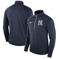 fe1816233afa New York Yankees Nike Therma Top Bench Half-Zip Pullover Jacket - Navy