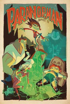 'ParaNorman' limited edition poster by Mondo. Poster artist: Glen Brogan