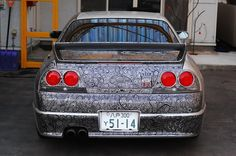 Artist Uses Sharpie to Cover Husband's Skyline GTR with Stunningly Intricate Designs - My Modern Met