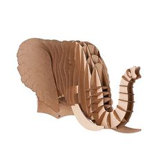 Cardboard Safari: Eyan Elephant Trophy Head