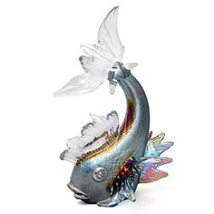 light opera gallery stuart abelman art glass - Silver Fish