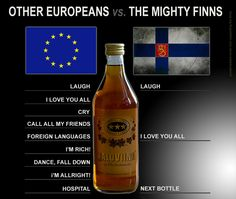 Drinking #alcohol > Other Europeans vs. The Mighty Finns. #finland