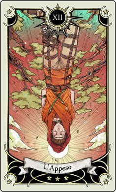 Tarot card 12- The hanged man by rann-poisoncage on DeviantArt