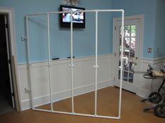 pvc pipe design board | An Awesome Hinged Design Wall Made by My Awesome Husband!