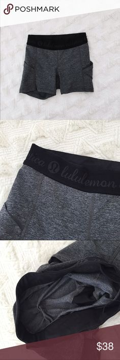 Worn once lululemon spandex shorts In perfect condition lululemon athletica Shorts