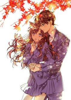 This reminds me of shinichi and.(forgot her name) from Detective Conan Top Anime, Manga Anime, Anime Art, Detective Conan Ran, Detective Conan Shinichi, Ran And Shinichi, Kudo Shinichi, Magic Kaito, Anime Love Couple
