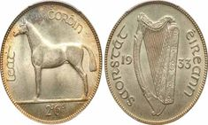 On this page, we will tell you all about the Irish Half Crown coin minted between the years Identifying Coins, Irish Free State, Hunter Horse, Old Irish, Coin Values, Coin Grading, Metal Detecting, Coin Collecting, Ireland