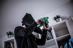 benkoa // paper mask // 200g black paper mat // clip video j-flows tweak // london //  http://tweakproject.com/