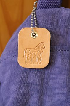 Horse Bag Charm  Leather Mare And Foal by TinasLeatherCrafts. Repin To Remember.