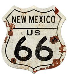 Route New Mexico US 66 Shield Metal Sign 40 x 42 Inches,