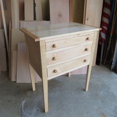 Shaker Three Drawer Table in Maple by AntonelliWoodcrafts on Etsy, $550.00 We build custom furniture