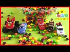 ABC SURPRISES Learn to Spell Car in Candy Disney Cars Toys Lightning McQueen - YouTube