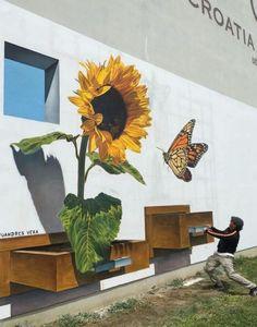 3D Street Art by Juandres Vera, located in Vukovar, Croatia