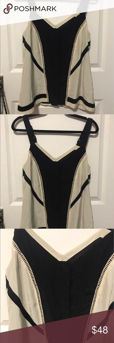 Rag & bone black and white blouse small Adjustable straps. Preowned. Worn once. rag & bone Tops Blouses