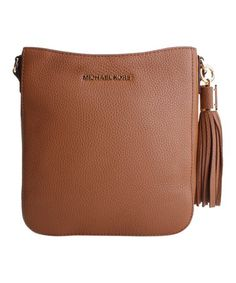 Look what I found on #zulily! Acorn Bedford Tassel Leather Crossbody Bag #zulilyfinds