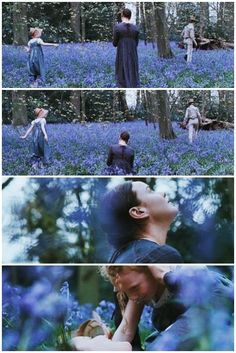 """Jane Campion, Bright Star (2009) - Abbie Cornish, Ben Whishaw.  """"I almost wish we were butterflies/  and liv'd but three summer days -  three such days with you /  I could fill with more delight /  than fifty common years could ever contain."""""""