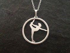 Halskæde i sølv med gymnast Symbols, Design, Glyphs, Icons