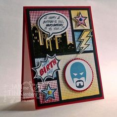 Comic book panels on your card? Yes please! Calling All Heroes.