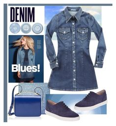 """""""Blue Jean Baby"""" by kleinwillwin ❤ liked on Polyvore featuring Alima, Kate Spade, AG Adriano Goldschmied, Marni, women's clothing, women, female, woman, misses and juniors"""