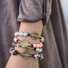 ••ARM CANDY•• accessorize your outfit with these @tweedsandbeads bracelets  these colors are perfect for fall! $20 each. Shop social when you sign up at stylerevelsocial.com or come see us!