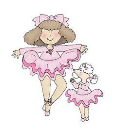 Free Dearie Dolls Digi Stamps: Ballerina Friends
