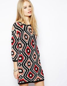 ASOS+Patchwork+Crochet+Dress