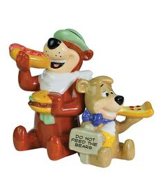 Take a look at this Yogi & Boo-Boo Salt & Pepper Shaker Set by Westland Giftware on #zulily today!