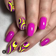 Nail art fashion is peek today. Endless variations styles and designs are occurred on nail art and g Manicure Nail Designs, Nail Manicure, Nail Art Designs, Nail Polish, Manicure Ideas, Neon Nail Art, Neon Nails, Trendy Nails, Cute Nails