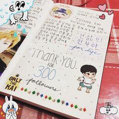 thank you~~ . . . . . . . . #exo#exok#exom#exol#kpop#journal#diary#exojournal#exodiary#aesthetic#stationary#stickers#suho#baekhyun#chanyeol#kyungsoo#kai#sehun#chen#xiumin#lay#엑소#엑소엘#사랑해#