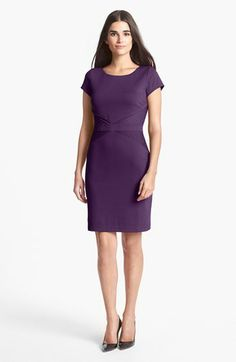 Ellen Tracy Ponte Knit Sheath Dress available at #Nordstrom