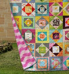Economy Block Quilt backed in flannel | Flickr - Photo Sharing!