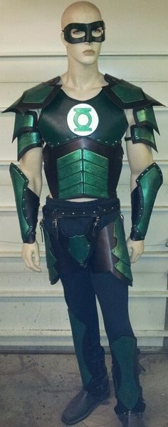 Green Lantern Leather Armor Set