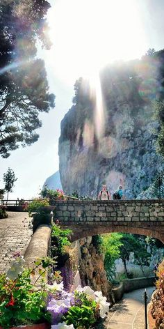 The Island of Capri in Naples, Italy ~ is located off the Sorrentine Peninsula