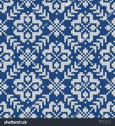 Winter Sweater Design. Seamless Knitting Pattern