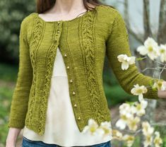 Ravelry: Cosette pattern by Jennifer Wood. May need a shorter length, obviously different colour, not traditional lolita but could work Christmas Knitting Patterns, Knit Patterns, Jennifer Wood, The Cardigans, Dress Gloves, Yarn Brands, Vintage Knitting, Knit Cardigan, Green Cardigan