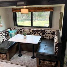 Custom order bench seat covers that transform your trailer | Etsy Camper Interior, Diy Camper, Camper Ideas, Camper Storage, Interior Design, Vintage Camper, Vintage Trailers, Camper Cushions, Bench Seat Covers