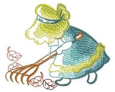 Sketched Sunbonnet Sue 5 - 3 Sizes! | What's New | Machine Embroidery Designs | SWAKembroidery.com Ace Points Embroidery