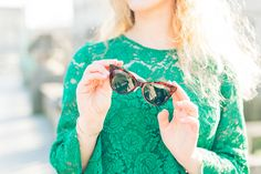 Olivia Poncelet fashion blog outfit look claudie pierlot lace green top style belgian brussels pastel feminine classy bcbg